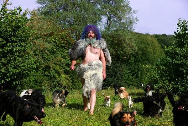 Robert Franz mit seinen Hunden